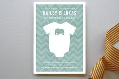 Adopting a Baby Boy Baby Shower Invitations by Serenity Avenue at minted.com