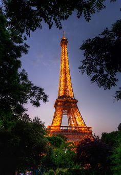 Paris, France - Eiffel Tower (climbed it twice!)