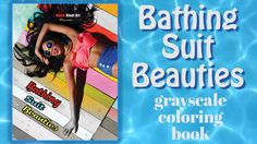 Beautiful Women of Summer Bathing Suit Beauties Grayscale Coloring Book