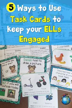 Do you have sets of task cards but are unsure how to use them with your ELLs? Read to learn how to use task cards to keep ESL students engaged in learning. Reading Task Cards, Math Task Cards, Classroom Behavior Management, Behavior Plans, Behavior Charts, Engage In Learning, Student Learning, Teaching Strategies, Teaching Ideas