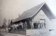 Old Train Station on Hamburg Road moved to Sawyer Farm on M-36