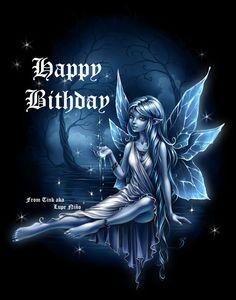 Happy Birthday Fairy Dark Graphics Code | Happy Birthday Fairy Dark Comments