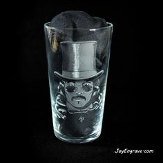 Gary Oldman in Director Francis Ford Coppola's 1992 American horror film, Bram Stoker's Dracula. Hand Engraved on a pint glass. This glass engraving was done by Glass Engraving, Hand Engraving, Bram Stoker's Dracula, Gary Oldman, Pint Glass, Beer, Tableware, Unique Jewelry, How To Make