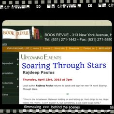 Meet me at THE BOOK REVUE in Huntington at 7:00PM on April 23rd for Soaring Through Stars!!