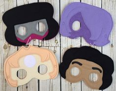 Steven Universe inspired masks for dress up and parties.