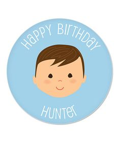Dark Brown-Haired Boy Personalized Birthday Plate by sarah + abraham on #zulily #zulilybday