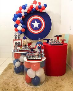 Birthday Party For Teens, Happy 2nd Birthday, Superhero Birthday Party, Captain America Party, Captain America Birthday, Sonic Party, Avengers Birthday, Pokemon Birthday, Birthday Party Decorations