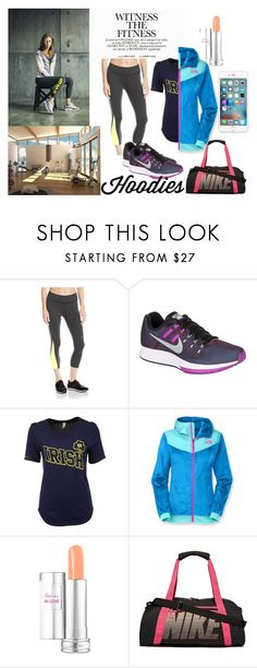 """""""Urban Sport"""" by aichi ❤ liked on Polyvore featuring Beyond Yoga, NIKE, Under Armour, The North Face, Lancôme, fitness, healthy and Hoodies"""