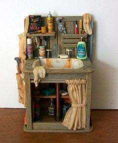 Miniature Workshop Sink (1 inch dollhouse scale)