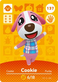 amiibo card Cookie of the Animal Crossing Cards - Series 2 was first released on 2015 Oct 29 in Japan. Animal Crossing Amiibo Cards, Animal Crossing Wiki, Animal Crossing Villagers, Gemini Birthday, Dog Birthday, Birthday Cookies, Character Art, Character Design, Character Creation