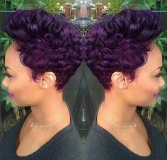 Purple and slayed