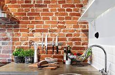 Decorar con ladrillos vistos - http://www.decoora.com/decorar-con-ladrillos-vistos.html