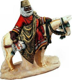 "West African Santa (Father Christmas) Artist: unknown  ""In West Africa, Santa Claus is referred to, as ""Father Christmas.""   Children enjoy being taken by their parents or elder ones to see ""Father Christmas"" who gives them a gift.""  http://diversityfusion.blogspot.com/2010/12/christmas-in-africa.html"