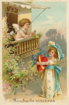 Παλιά καρτ-ποστάλ: καρδιά