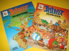Comic -dos tomos de ASTERIX Y OBELIX-en hispania y en Belgica