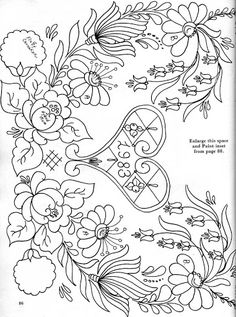 bavarian folk art coloring pages-#2