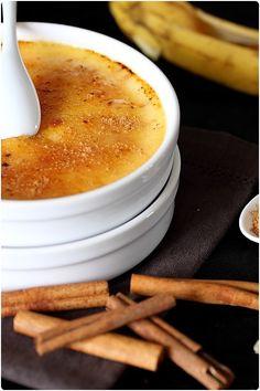 Crème brûlée à la cannelle et banane