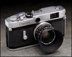 Canon P, rangefinder, silver