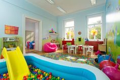 Before you begin thinking of ideas for decorating playroom, do not neglect to ask your kid's opinion. The playroom may also be utilized for studying also. Therefore, if you would like to create a playroom for your children, here are… Continue Reading → Playroom Decor, Playroom Ideas, Playroom Design, Nursery Design, Kid Playroom, Children Playroom, Indoor Playroom, Home Daycare, Daycare Ideas