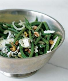 Green Bean Salad With Walnuts, Fennel, and Goat Cheese | Steamed green beans a bore? Jazz up your standard side with these tasty recipes.