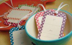 Polka Dot Bright Tags #printable #tags #polkadot