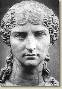 Agrippina:  granddaughter of Augustus, by way daughter Julia, and her husband, Augustus' friend Agrippa and mother of Caligula.