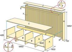 Bygg bänk och elementskydd - ritning