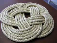 SALE OffWhite Rope 30 diameter Throw Rug 1 by AlaskaRugCompany, $79.99