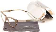 Dsquared2 Eyeglasses Frame DQ5102 020 Gray Brown Plastic Italy Made 51-19-145 #DSQUARED2