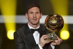 Lionel Messi wins record 4th world's best player award http://ndtv.in/VM5A4U