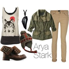 """Arya Stark"" by niquepadilla on Polyvore"