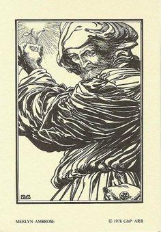 Merlyn Ambrose 1978 Excalibur Portfolio Art Illustration by Barry Windsor-Smith