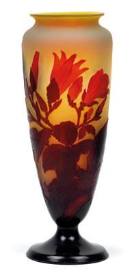 An overlaid and etched glass vase by Gallé