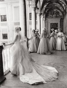Grace Kelly and her bridesmaids - April 19, 1956 - Photo by Howell Conant - @~ Mlle