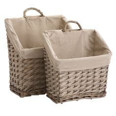 wicker magazine baskets
