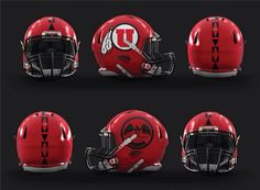 Utah Utes Tribal Stripes Helmet