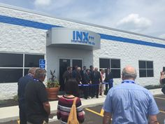 The ribbon-cutting ceremony at yesterday's grand opening of Inx International's new Lebanon, Ohio facility.