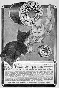 This Corticelli Thread ad is from the September 1900 issue of Delineator magazine.