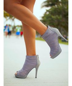 Grey High Heel Booties - these 2 colours together are amazing!