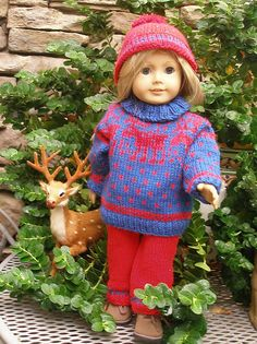 "Ravelry: American Girl 18"" doll Reindeer pattern by Ase Bence"
