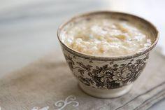 Rice Pudding ~ Classic, creamy rice pudding recipe.  Boiled rice with milk, cream, egg, brown sugar, cinnamon, vanilla, and raisins. ~ SimplyRecipes.com