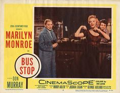 """""""Bus Stop"""" - Marilyn Monroe and Don Murray. US Lobby Card, 1956. Card #8 of 8."""