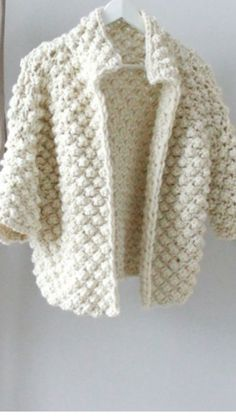 Alexandria Cardigan pattern by Connie Chang Chinchio Cardigan Pattern, Crochet Cardigan, Knit Or Crochet, Free Crochet, Baby Knitting Patterns, Hand Knitting, Crocheting Patterns, Diy Crafts Knitting, Diy Crafts Crochet