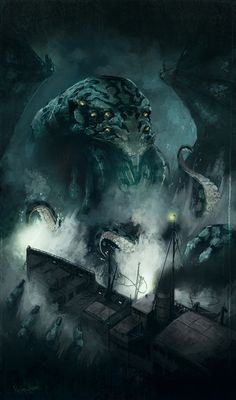 Cthulhu. From The Depths. Its Fingers Curl About The Craft As If They Were The Contours Of A Fresh French Baguette.