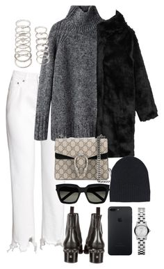 """""""Untitled #4252"""" by lily-tubman ❤ liked on Polyvore featuring H&M, Chanel, Vanessa Bruno Athé, Forever 21, Monki, Gucci, Ann Demeulemeester, Yves Saint Laurent and Marc by Marc Jacobs"""