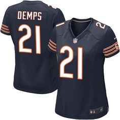 Women's Nike Chicago Bears #21 Quintin Demps Game Navy Blue Team Color NFL Jersey