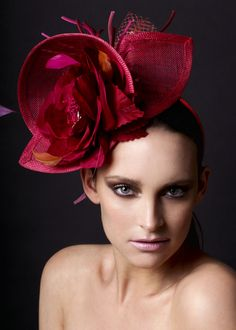 Delicious delight. Fascinator with hand made silk flowers. Berry Rutjes