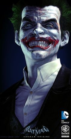 The Joker art by Jocelyn Zeller DC Comics Batman O Joker, Joker Art, Joker And Harley Quinn, Joker Arkham, Comic Book Characters, Comic Character, Comic Books Art, Batman Arkham Origins, Batgirl