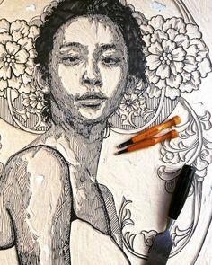 """Un Vide Dans Un Catalyseur — Printmaker & Artist: Irving Herrera   """"At Work."""" ..."""