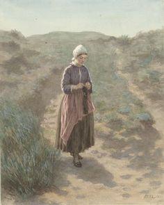 In de duinen te Zandvoort, David Adolph Constant Artz, 1862